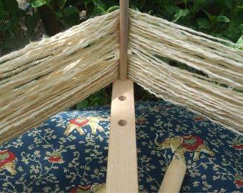 Hemp Yarn Hand Spun Double  Ply Hemp Art Yarn Stem Fiber Yarn Bast Fiber Yarn 80 Yards 2 Ply Handspun Hemp Natural Plant Fiber One Skein