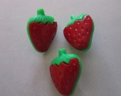 Strawberry Buttons,  craft, sewing, scrapbooking