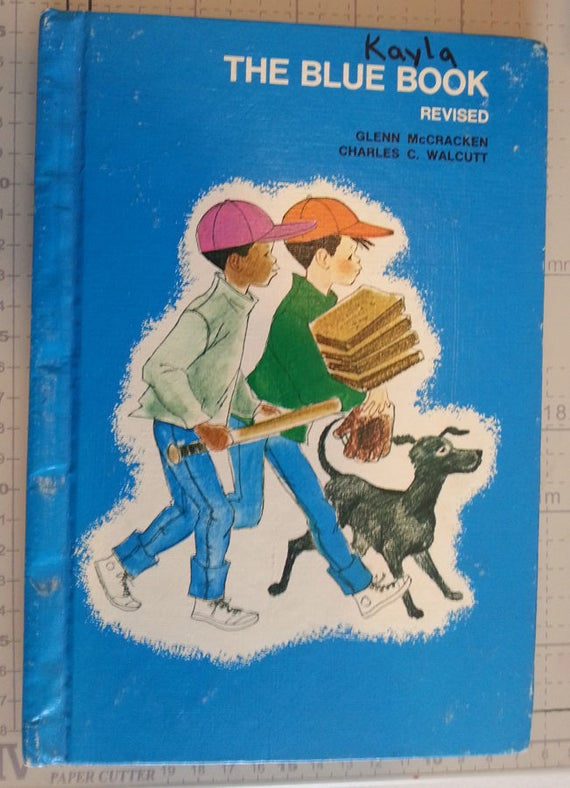 1972 The Blue Book childrens vintage early reading books age 6 - 8 hardcover 1970s