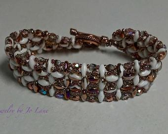 Copper and White Bracelet