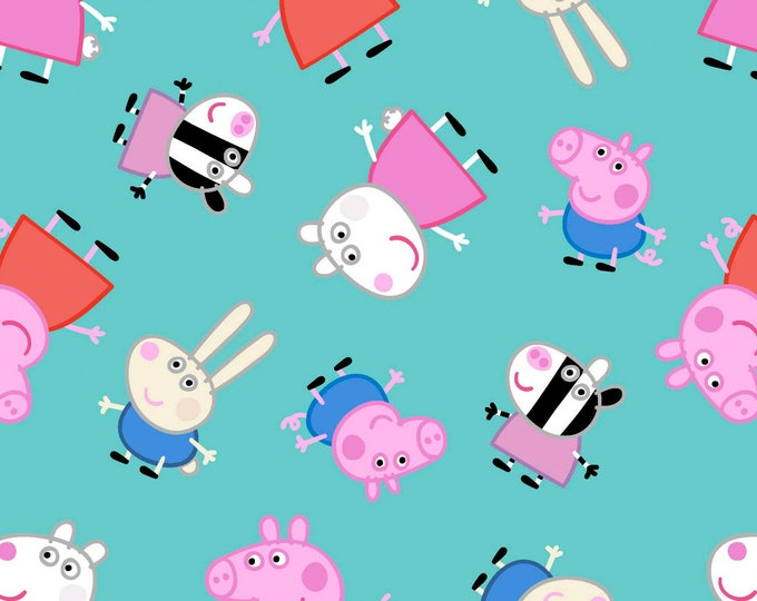 PEPPA PIG FABRIC, Nick Jr. Peppa Pig and Friends Cotton Children's Fabric