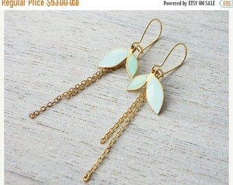 On Sale 40% off, Enid Earrings, floral pendant, Scandinavian design jewelry