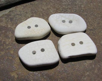 SALE CERAMIC BUTTONS Pottery Beach Glass Buttons