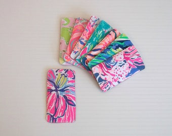Preppy Lilly Colorful Fabric Eyeglass Sunglasses Case 8 Prints