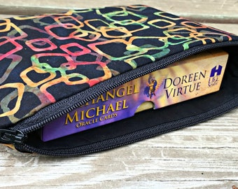 Tarot Card Bag - Oracle Deck - Tarot Deck Bag - Tarot Pouch - Tarot Cards - Crystal Wand Bag - Crystal Storage - Crystal Bag - Angel Cards