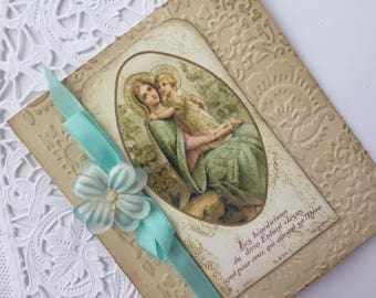 Virgin Mary  Pocket Journal, Devotional Journal, Catholic Prayer Book, Mothers Day Gift, Blessed Mother Gift, Mary Gift,  Catholic Gift