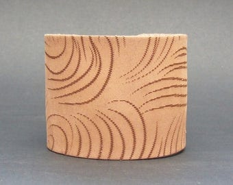 Safari Swirl Double Cuff in Taupe by Muse 2 inches