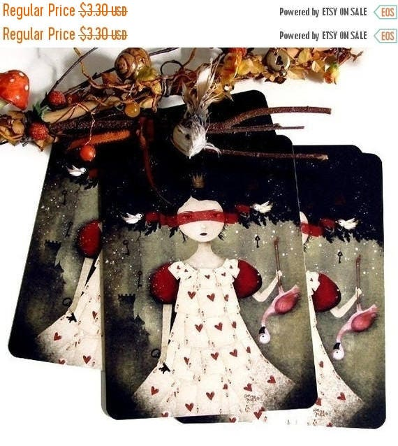 30% Off - Summer SALE 30 Percent Off - Summer SALE The Queen of Hearts - Postcard