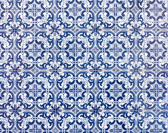 Portugal Photography, The Azulejo Blue Tiles of Porto, Architecture of Porto, blues of Portugal,  wall art, portugal windows in Pink and Red
