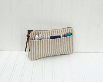 Waxed Canvas Purse Organizer, Travel Organizer, Diaper Bag Organizer, Bridesmaid Gift