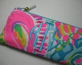 Lilly Pulitzer Pencil Case, Cosmetic Bag, Sorority Gift, Make Up, Preppy, Bridesmaid Gift, Stocking Stuffer (Come Out of Your Shell Multi)