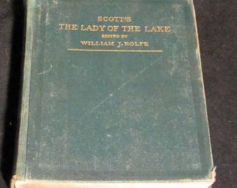 """Scott's """"The Lady of the Lake"""" edited by William J. Rolfe  Antique Book 1883"""