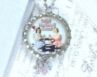 Bff Necklace Friendship Gift Best Friend Necklace Bottle Cap Necklace Best Friend Gift Best Friend Jewelry