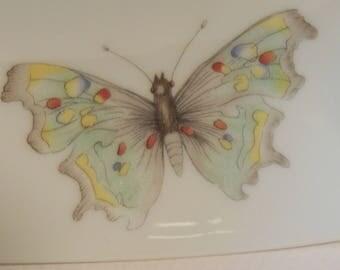 LIMOGES France Butterfly Trinket Dish