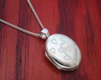 Sterling Locket with Silver Chain