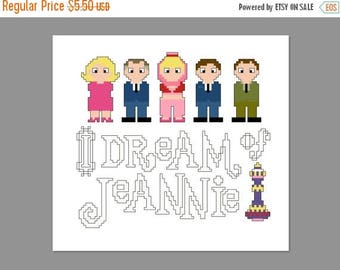 Christmas in July I Dream Of Jeannie Pixel People Cross Stitch Pattern PDF PATTERN Only