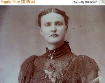 ONSALE Antique Photo Victorian Lady in Haute Edwardian Fashion