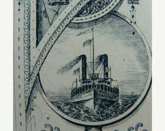 ONSALE Antique Titanic 132 Year Old Divine Unused Check