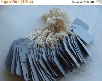 ONSALE Vintage String Tags One Dozen Vintage Gorgeous French Blue Color Farmhouse Decor