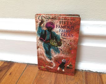 Fairy Tales Children's Book Vintage Fifty Famously Fairy Tales Hardcover