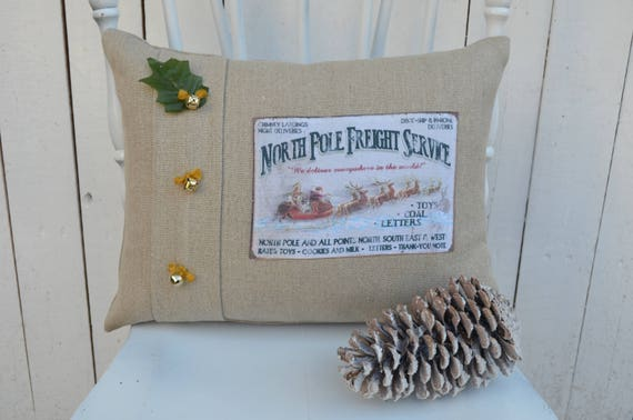 North Pole Christmas Pillow