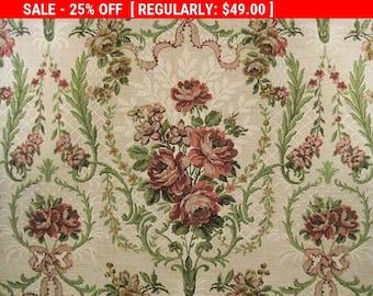 Antique Brocade Fabric French Boudoir Pillow