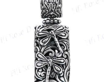 "1 5/8"" Dragonfly Silverwork 925 Sterling Silver Pendant"
