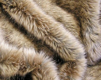RABBIT FAUX FUR Taupe/Tan/Brown: Available for Sale on September 7th