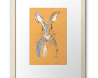 Summer Hare, signed and framed small print