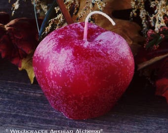 HARVEST APPLE Candle with Free Hand Poured Harvest Tealight for Autumn Equinox, Mabon, Samhain, Fall Festivals