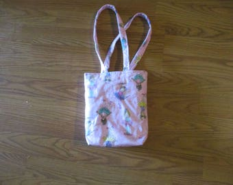 Tote Bag Purse Girl Quilted Handmade -- 01