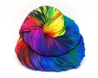 "Acoustic Sock Yarn - ""Aint it Fun!"" - Handpainted Superwash Merino - 400 Yards"