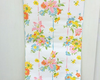 4 yards roll vintage floral wallpaper flower power kitchen home shabby chic country cottage altered - Flower Wallpaper For Home