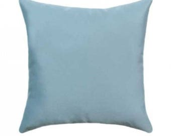 sunbrella throw pillow blue outdoor pillow sunbrella canvas mineral blue outdoor pillow solid