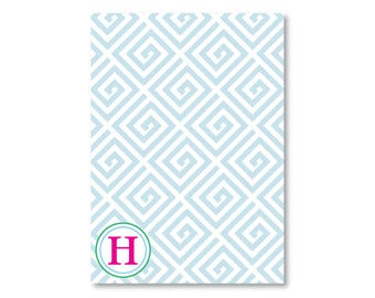 Personalized Notepad- Greek Key