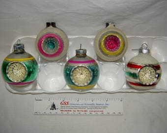 Vintage Small Indented Christmas Ornaments