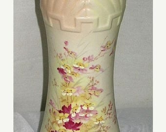 ON SALE Antique Vintage Made in Austria Handpainted HP Art Deco Vase Porcelain Josef Strnact