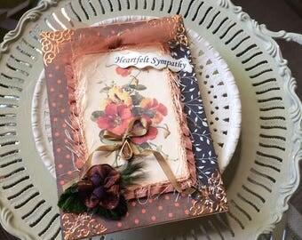 Handmade Sympathy Card - Floral Sympathy Card - Loss Card - Grief Card