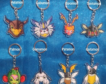 Digimon - Digivolve To... Keychain Charms