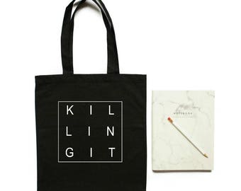 Killing It, Tote bag, You're Killing It, Gift for Her, Entrepreneur Gift, Inspirational Quote,  Canvas Tote Bag, Boss Babe, Girl Boss