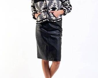 40% SUMMER SALE The Vintage Albuquerque Cropped Black & White Jacket