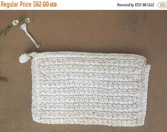 40% OFF The White Weaved Japanese Clutch Purse