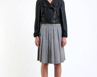 40% OFF The Vintage Grunge Gingham Pleat Skirt