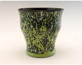 Etched Porcelain Cocktail Glass