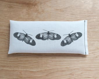 Flaxseed Lavender Eye Pillow, Butterflies, Moth, Natural History Gift Nature Lover, Naturalist, Teacher, Spa Gifts for Her