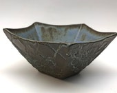 Ceramic bowl, nut bowl, decorative small bowl in dark chocolate stoneware  handmade, In Stock Ready to Ship