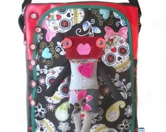 Big bag shoulder strap, bag original, calaveras bag, skull bag