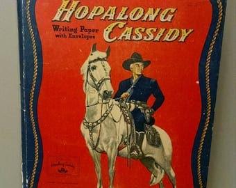 Hopalong Cassidy Writing Paper, Western 1950's, Best Cowboy Ever,