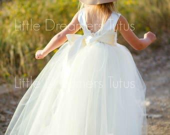 READY to SHIP - 3T - The Juliet Dress in Ivory - Flower Girl Tutu Dress