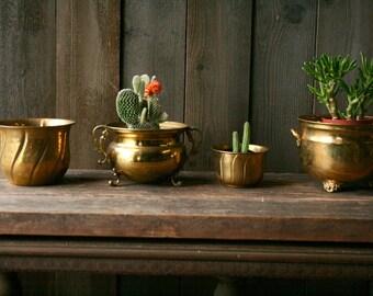 Exceptionnel Brass Plant Holders Bohemian Home Decor Jungalow Boho Decor Your Choice  Vintage At Nowvintage On Etsy
